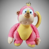 Old Hasbro Rhinokey Stuffed Animal – Colorful Disney Wuzzle