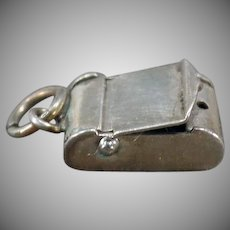 Vintage Sterling Silver Charm – Little Box with Opening Hinged Lid