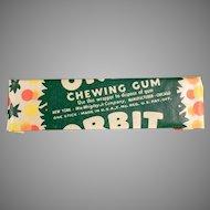 Vintage Chewing Gum Stick - Wrigley's Orbit - 1940's Not the New Stuff!
