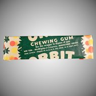 Vintage Chewing Gum Stick - Wrigley's Orbit - 1940's Not the New Stuff!