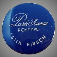Vintage Royal Park Avenue Typewriter Ribbon Tin