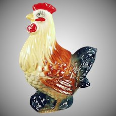 Vintage Rooster Salt & Pepper Set - Two Piece Figurine