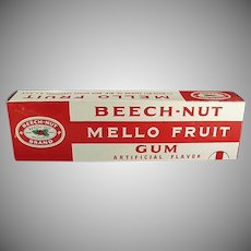 Vintage Beech Nut Gum Store Display - Large Mello Fruit Display Box