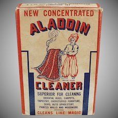 Vintage Aladdin Cleaner Soap Box with Nice Graphics - 1944