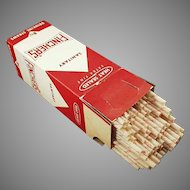 Vintage Fincher's Advertising Giant Paper Straws in Original Box