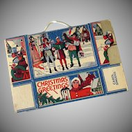 Vintage Christmas Cookie or Candy Box with Village Carolers – Unused Condition