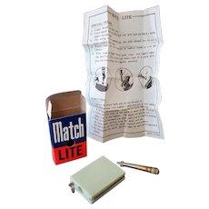 Vintage Match Lite #1122 Mint Green Cigarette Lighter – Box & Instructions