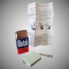 Vintage Match Lite #1122 Mint Green Cigarette Lighter – Box & Instructions