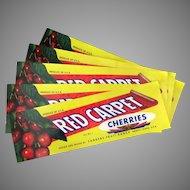 Five Vintage Fruit Crate Labels from Emmett Idaho – Red Carpet Cherries