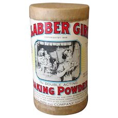 Vintage Clabber Girl Baking Powder Advertising Sample Box