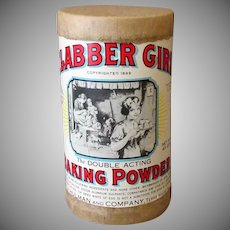 Vintage Clabber Girl Baking Powder Advertising Sample Box
