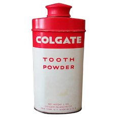 Vintage Colgate Tooth Powder Tin – 2 Oz Size
