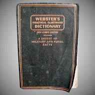 Vintage 1942 Webster's Practical Illustrated Dictionary - Soft Cover Edition