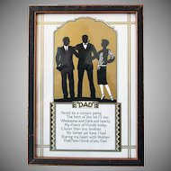 "Vintage Motto for Father's Day -  ""Dad"" Poem & Silhouette Print"