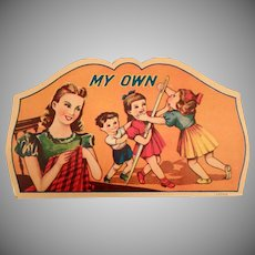 Vintage Sewing Needle Packet – My Own Needle Book with Children and Mom