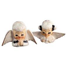 Pair of Vintage Praying Angels - Long Eyelashes and Very Sweet