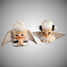 Pair of Vintage Praying Angels - Long Eyelashes and Very Sweet