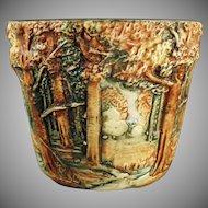 Vintage Weller Art Pottery - 1915-1920 Forest Line - Small Jardinière