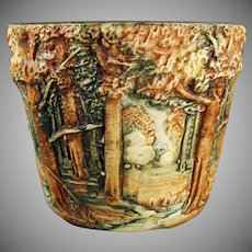 Vintage Weller Art Pottery - 1915-1920 Forest Line - Small Jardinière