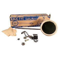 Vintage Magic Eye Bicycle Mirror Accessory with Original Box