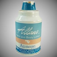 Vintage Amway Hand & Body Lotion Tin - 1965 Product