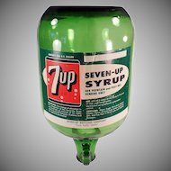 Vintage 7-Up Soda Fountain Jug - Seven-Up Fountain Dispensing Bottle