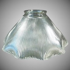 Single Vintage Light Shade - Close Ribbed Pattern