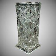 Vintage Illinois Pattern Straw Holder - Pressed Glass Soda Fountain Strawholder