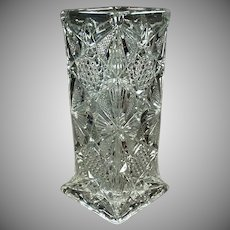 Vintage Illinois Pattern Straw Holder - Pressed Glass Soda Fountain Strawholder