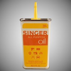 Vintage Singer All Purpose Sewing Machine Oil Tin - Unusual Colors
