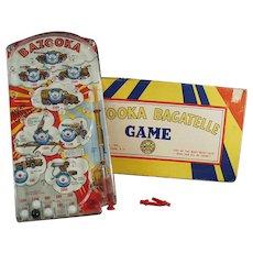 Vintage Marx Bazooka Bagatelle Military Marble Game with Original Box