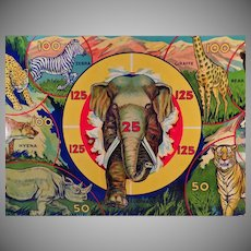 Vintage Wild Africa Target Game - Colorful African Animals - Original Box