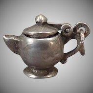 Vintage Silver Tea Pot Charm – I'm a Little Teapot with a Moveable Lid