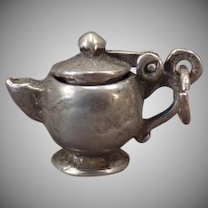 Vintage Silver Tea Pot Charm – I'm a Little Teapot with a Moveable Lid