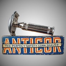 Vintage Anticor Corn Razor with Original Tin - 1911 - German Corn Shaver