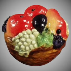 Vintage Celluloid Tape Measure - Vividly Colorful Fruit Basket