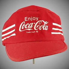 Vintage Coca-Cola Baseball Cap Hat with Coke Advertising