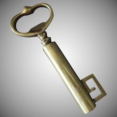Vintage Brass Key Corkscrew – Skeleton Key Barware Cork Screw