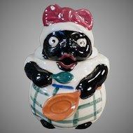 Vintage Black Memorabilia - Mammy Mustard, Jelly or Condiment Jar