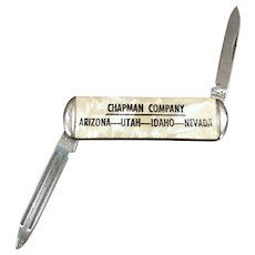Vintage Chapman Co. Advertising Pen Knife - Small Old Pocket Knife
