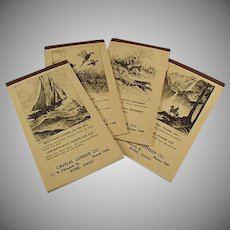 Vintage Idaho Lumber Company Advertising Notepads with Etching by R.H. Palenske