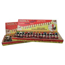 Vintage Noma Christmas Tree Lights -Two Strands 15 Lamps Each, Original Boxes