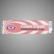 Vintage Beech Nut Candy Stripe Chewing Gum Stick ca. 1960's