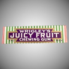 Vintage Stick of Chewing Gum - Wrigley's Juicy Fruit - ca 1930's - 1940's