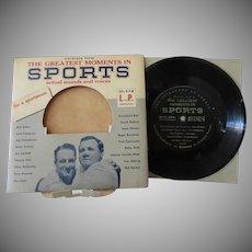 Vintage 33 1/3 Cavalcade of Sports Record – Dempsey, Rockne, Owens, Gehrig & More