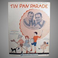 Vintage Sheet Music - Tin Pan Parade Ukulele Arrangement - Children on Cover