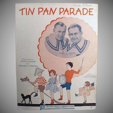 Vintage Sheet Music - Tin Pan Parade Ukulele Arrangement - Children on Cover