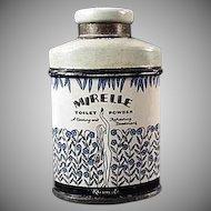 Vintage Sample Talc Tin - Miniature Kleinert's Mirelle