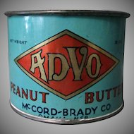 Vintage Advo Peanut Butter Tin – Unusual Measuring Cup