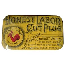 Vintage Honest Labor Cut Plug Tobacco Tin - Nice Condition